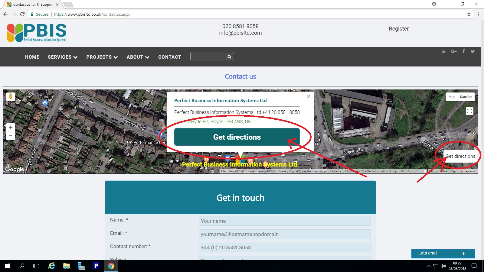 An image showing enhancemants on contact us form for visitor's navigation